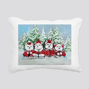 Westie Christmas Rectangular Canvas Pillow